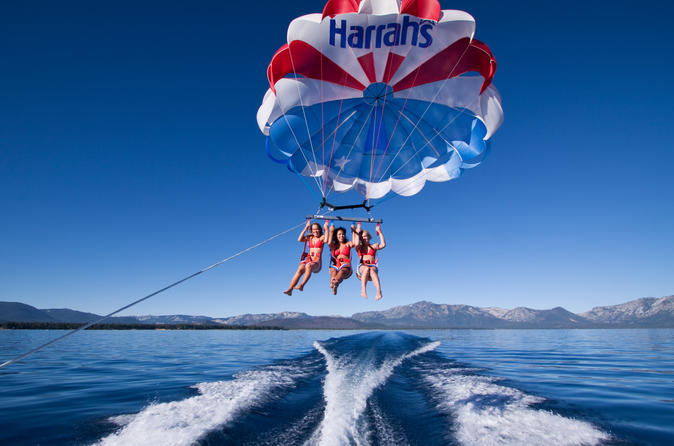 south lake tahoe parasailing in lake tahoe 154987